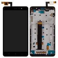 Дисплей для Xiaomi Redmi Note 3, черный, с сенсорным экраном, с передней панелью, без подсветки навигационной клавиатуры