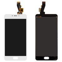 Дисплей для мобильных телефонов Meizu M3s, M3s Mini, белый, с сенсорны