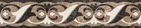 Керамическая плитка фриз Lorenzo Intarsia темно-бежевый