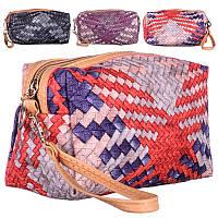 Косметичка кошельком плетеная №021(9-12)