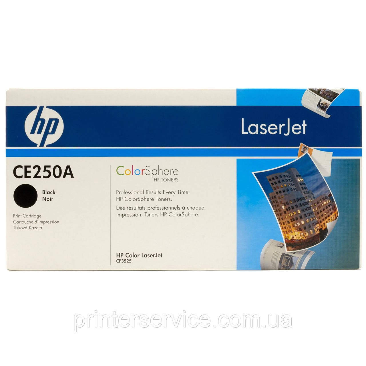HP CE250A black картридж (№504A) для LJ CM3530 и CP3525 series
