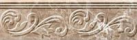 Керамическая плитка фриз Lorenzo Modern темно-бежевый
