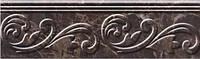 Керамическая плитка фриз Lorenzo Modern коричневый
