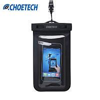 Чехол водонепроницаемый для смартфона Choetech Waterproof black