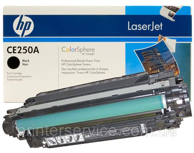 Картридж HP CE250A black для color LaserJet CM3530/CP3525 (504A Cartridge)
