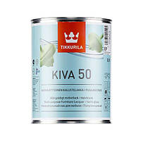 Лак для мебели TIKKURILA КИВА, п/глянец (0,9 л) (6408070025505)