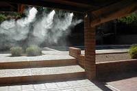 Увлажнение  воздуха теплицы туманом высокого давления