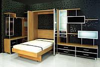 Горка для гостинной с откидной кроватью