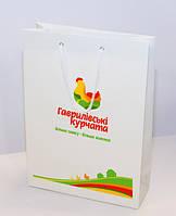 Бумажные пакеты с фирменной символикой