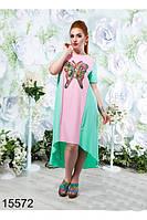 Стильное легкое платье в расцветках