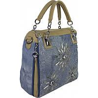 Женская джинсовая сумка с камнями сваровски  по низким ценам