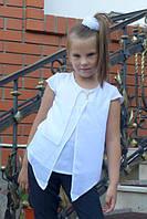 Детская блузка школа мотылек белая