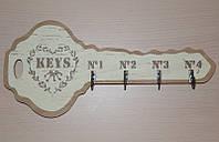 Деревянная вешалка для ключей