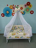 Набор постельного белья в детскую кроватку 8 в 1