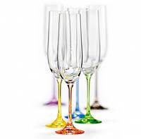 Bohemia Rainbow 190мл фужеры шампанское №6856