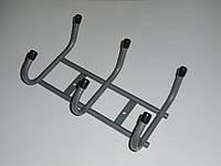 Вешалка для одежды, 3 крючка , шаг 10,5 см ТМ Днепр