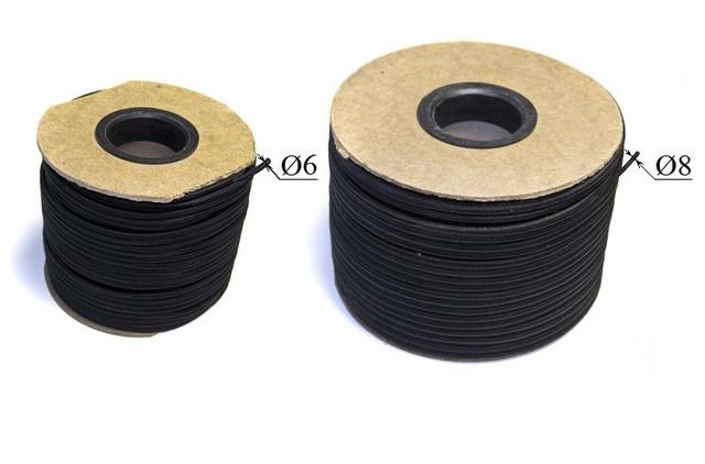 Шнур резиновый (резинка, эспандер) в оплётке для крепления и натяжки тента