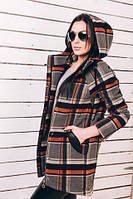 TM Ozze Женское весеннее пальто из кашемира в клетку Д 122