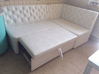 Кухонная мягкая мебель под заказ (Белый)