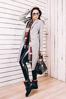 TM Ozze Длинное женское весеннее пальто из серой шерсти Д 246