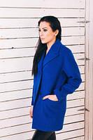 TM Ozze Женское весеннее пальто из ярко-синего кашемира Д112