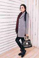 TM Ozze Женское весеннее пальто из серого кашемира Д 218