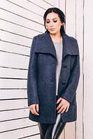 TM Ozze Женское пальто весеннее из шерсти синий джинс Д 220