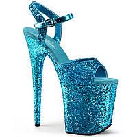 Cтрип обувь Pleaser в блестках