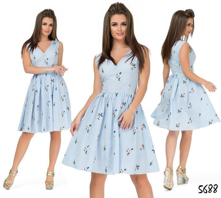 f8ddb194c6b Летнее коттоновое платье с вышивкой - Гармония Мод в Одессе
