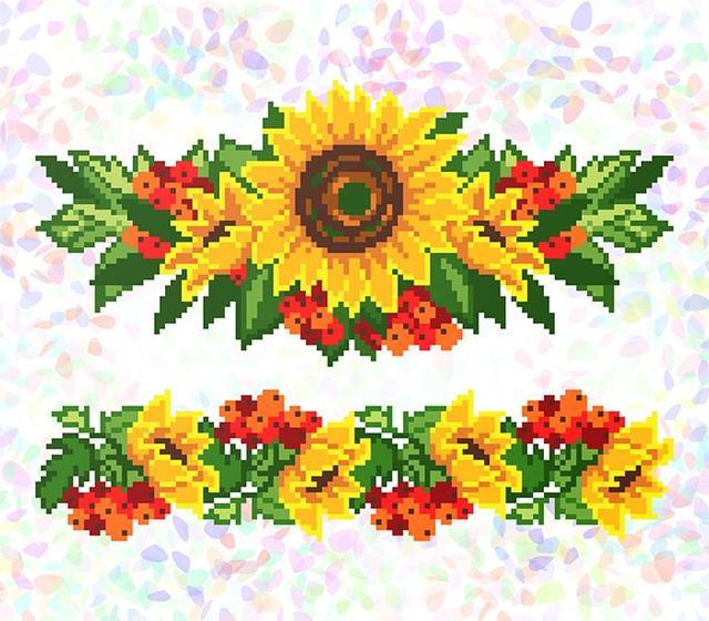 Купити Водорозчинний флізелін з нанесеним малюнком для вишивки  бісером хрестиком. Найприємніші ціни і найкраща якість від