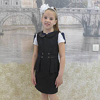 Детский сарафан школа баска черный