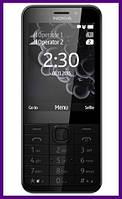 Телефон Nokia 230 Dual Sim (Dark Silver). Гарантия в Украине 1 год!