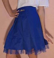 Детская юбка на девочку школа мальвина синий