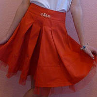 Детская юбка на девочку школа мальвина красный
