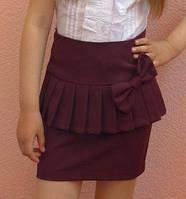 Детская юбка на девочку школа баска бордо