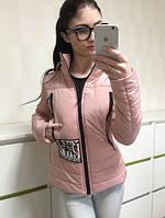 TM Ozze Куртка женская стильная весенняя К 351 розовая