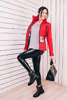 TM Ozze Куртка женская короткая на весну К 351 красная