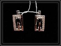 Серьги из серебра с камнями модель 039