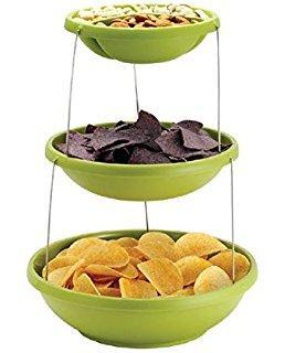 Миска трехуровневая для вечеринок twist fold 3 tiered bowl , фото 1