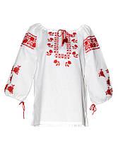 Харьков Вышиванка женская рубашка (двойная вышивка) LV-111