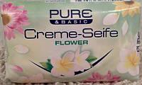 Pure & Basic Крем-мыло «Цветы», 150 г