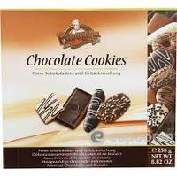 Печенье в шоколаде Ассорти Chocolate Cookies Papagena (в черном, молочном, белом шоколаде) Австрия 120г