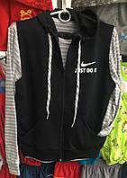 Детский спортивный костюм тройка Полоска оптом 6-10 лет черный