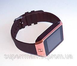 Смарт часы - GSM телефон DZ09 Gold, фото 2