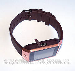 Смарт часы - GSM телефон DZ09 Gold, фото 3