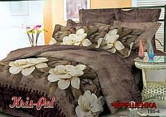 Семейный набор 3D постельного белья из Полиэстера №8541 KRISPOL™