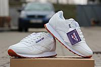 Кроссовки Reebok Classic (белые) кожаные кроссовки Reebok Рибок