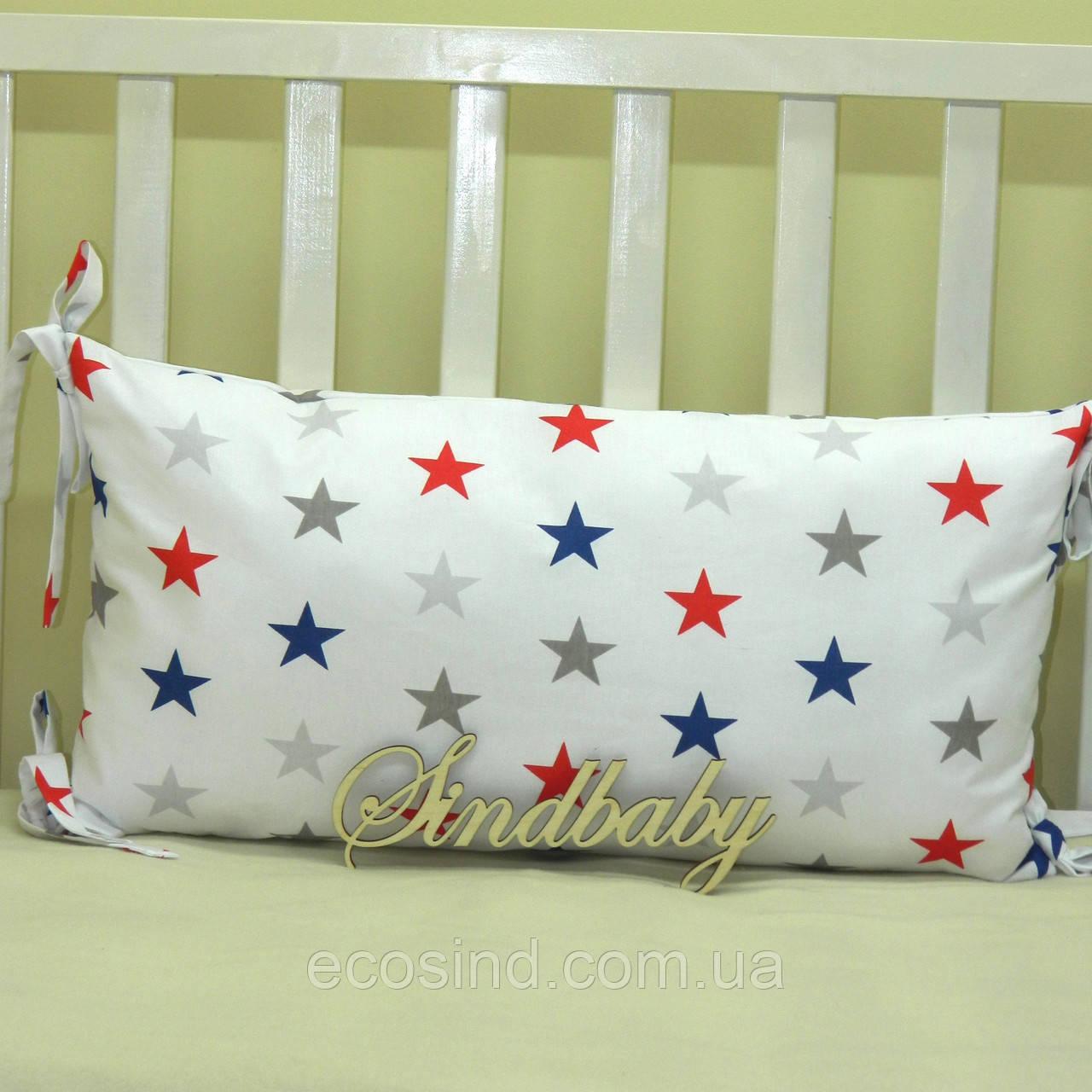 Бортики подушки в кроватку, Подушка 30х60 -29