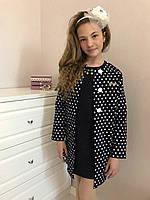 Школьный подростковый сарафан +кардиган черный   р. 122-152