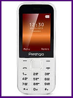 Телефон Prestigio 1240 Duo (WHITE). Гарантия в Украине 1 год!